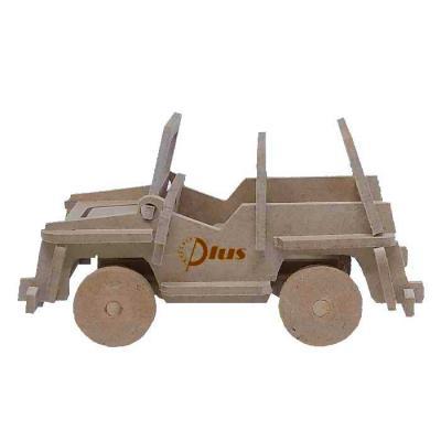Quebra-cabeça 3D Jeep Off Road. Produzida em material 100% proveniente de reflorestamento.Gravação de logomarca no sistema Hotstamping sem emissão de...