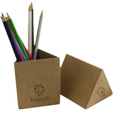 Ecologik Sustentáveis - Porta Lápis personalizado triangular.