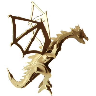 ecologik-sustentaveis - Quebra-cabeça 3D personalizaoo dragão