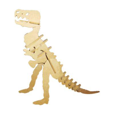 Ecologik Sustentáveis - Quebra-cabeça 3D Dinossauro T.Rex