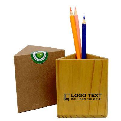 Porta-canetas triangular - Ecologik Sustentáveis