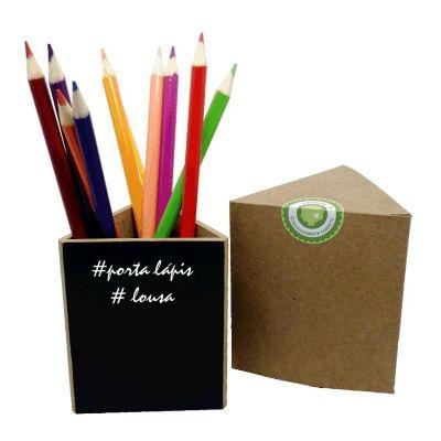 Ecologik Sustentáveis - Porta Lápis Triangular Lousa