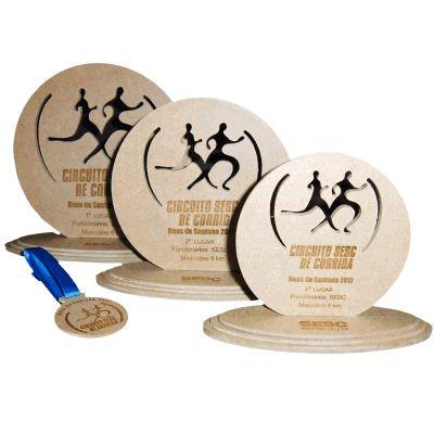 Ecologik Sustentáveis - Troféu Personalizado. Material ecológico com certificação FSC.