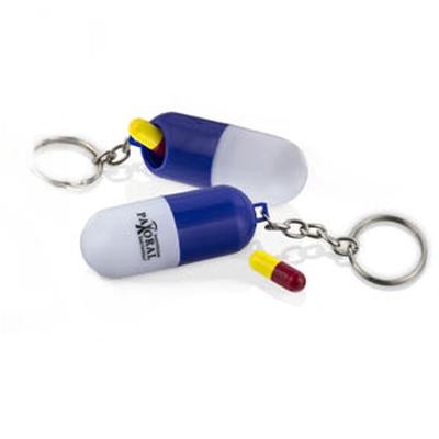Polo Art - Chaveiro formato cápsula, com sistema de vedação para ser utilizado como um prático porta comprimido. Fabricado em polipropileno, em diversas cores