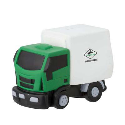 Polo Art - Cofre, formato caminhão, fabricado em vinil emborrachado. Possui abertura na parte de cima para colocação de moedas e não precisa ser danificado para...