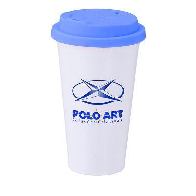 polo-art - Copo com tampa com capacidade para 500 ml.