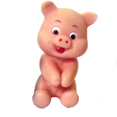 Polo Art - Boneco grudadinho em formato de porco, fabricado em vinil com dispositivo interno para prender