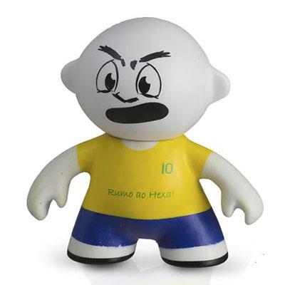 Polo Art - Toy Art: modelo jogador com articulação entre a cabeça e o corpo, fabricado em vinil emborrachado