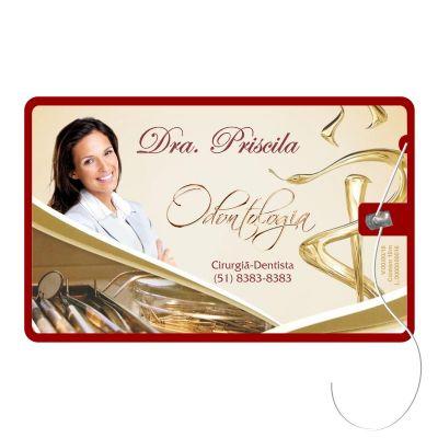 Cartão de formatura com fio dental