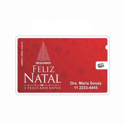 Cartão de Natal com fio dental