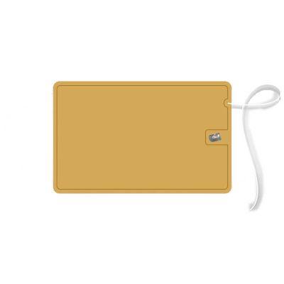Elemento W - Cartão com fio dental dourado
