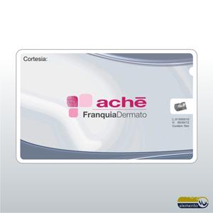 Cartão de Visita personalizado com Fio Dental (Etiqueta impressa, colada). Cartão plástico com 10 metros de fio dental encerado em seu interior.
