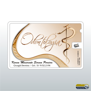 b32f8057e Cartão de Visita personalizado com Fio Dental (Etiqueta impressa ...