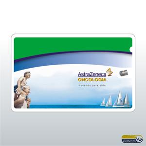 Elemento W - Cartão de Visita personalizada com Fio Dental (Etiqueta impressa, colada). Cartão plástico com 10 metros de fio dental encerado em seu interior.
