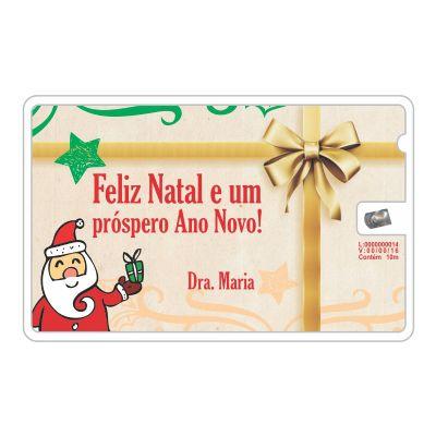 Elemento W - Cartão de natal, com fio dental