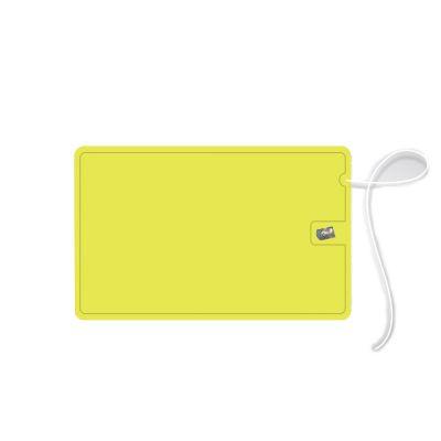 Elemento W - Cartão em PS, personalizado com Fio Dental sabor menta (Etiqueta impressa, colada). Cartão plástico com 10 metros de fio dental encerado em seu interi...
