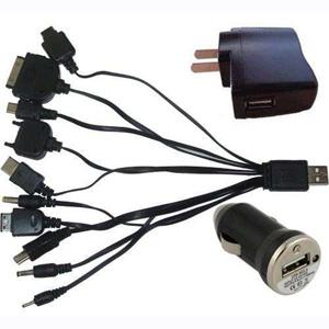 Spok Brindes - Carregador USB com entrada para diversos modelos diferentes.