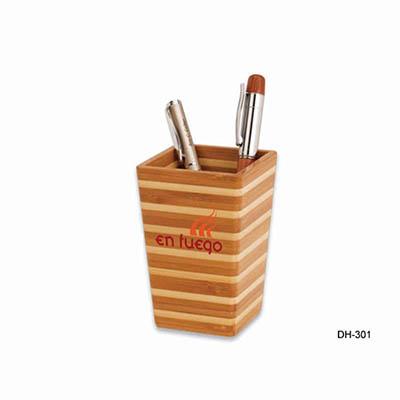 Spok Brindes - Porta caneta eco de bambu.