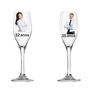 Spok Brindes - Ta�a de vidro exclusiva com grava��o personalizada.
