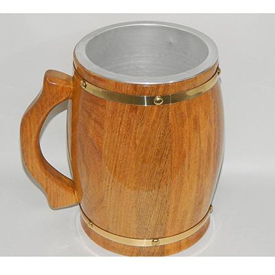armazem-brasileiro - Caneca de chopp 2lt madeira cerejeira térmica