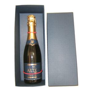 Armazém Brasileiro - Champagne Salton de 375 ml em caixa com tampa de papelão rígido personalizada de cor a sua escolha. Comemore e brinde bons negócios com seus clientes...