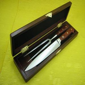 armazem-brasileiro - Estojo de madeira com faca e garfo