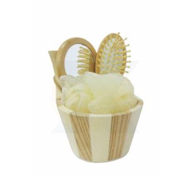 Kit Banho Ecológico. Com: 01 tina pequena, 01 escova cabelo, 01 esponja para banho e 01 espelho - Armazém Brasileiro