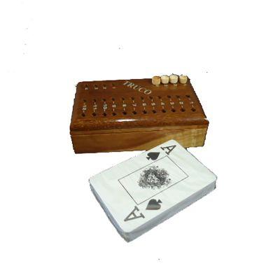 armazem-brasileiro - Estojo madeira com jogo de truco.