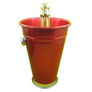 armazem-brasileiro - Porta champanhe ou vinho personalizado, confeccionado em alumínio com pintura especial em diversas cores. Sua marca levando praticidade a festa de se...