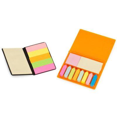 potencial-brindes - Bloco de anotações auto-adesivas, caixa em diversas cores e gravação.