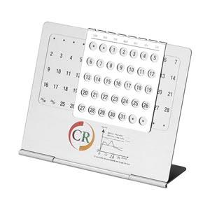 Potencial Brindes - Calendário permanente de mesa.
