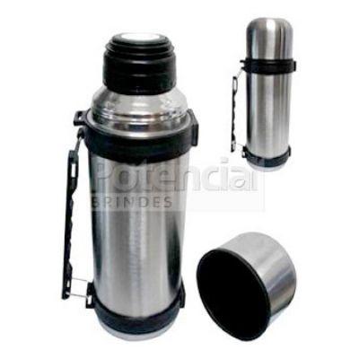 potencial-brindes - Garrafa térmica em inox com capacidade para 1 litro.