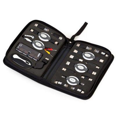Kit usb com 17 peças diversas entre conectores, extensores e adaptadores. - Potencial Brindes