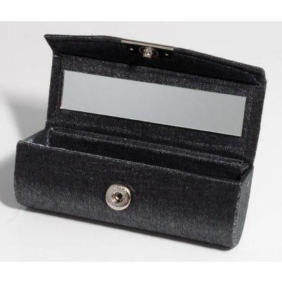 Potencial Brindes - Porta batom em couro sintético com espelho interno.