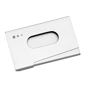 potencial-brindes - Porta-cartão de visitas, com formato personalizado.