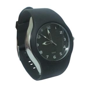 Potencial Brindes - Relógio de pulso analógico com pulseira de borracha.
