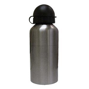 Potencial Brindes - Squeeze de metal com tampa protetora e bico de plástico.