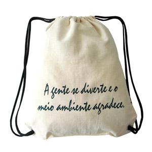 Hoshi Bolsas Promocionais - Saco mochila ecológico 100% algodão.