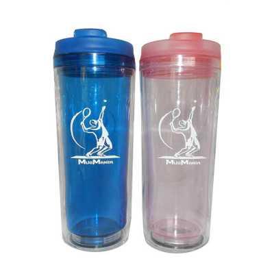 mugmania - Mug Advertising Transparente tampas coloridas com alça