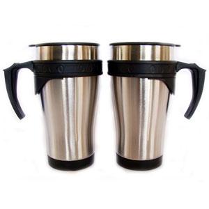 mugmania - Mug com capacidade para 450 ml, dupla camada de aço inox.
