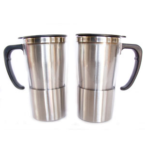 Mug térmico com capacidade para 350 ml, revestimento externo em acrílico