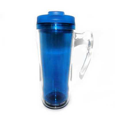 Mug com Alça Transparente interno Azul - Mugmania