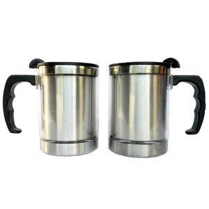 mugmania - Mug térmico com capacidade para 400 ml, revestimento externo em acrílico.