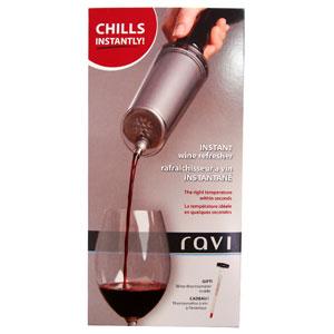 mugmania - Refrescador de vinho instantâneo, com capa em plástico e serpentina de aço inox.