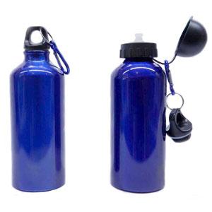 Mugmania - Garrafa em alumínio com capacidade para 600 ml, tampa de bico para facilitar na hora de tomar sua bebida, uma tampa reserva com mosquetão para transpo...