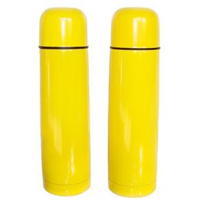 mugmania - Garrafa térmica com dupla camada de inox na cor amarela.