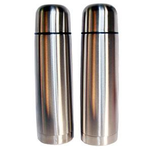mugmania - Garrafa térmica com dupla camada de inox na cor prata.