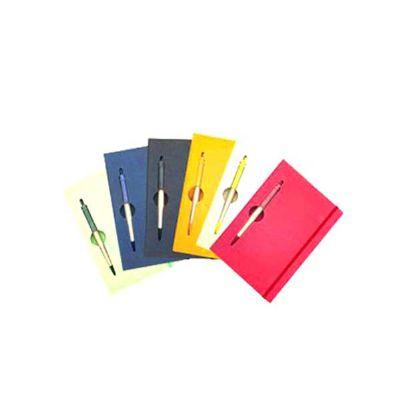 elite-mais - Bloco de anotações capa dura com caneta ecológica personalizado