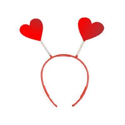 Tiara coração personalizada com antena ou mola