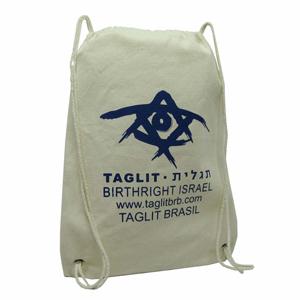 Rode - Mochila de algodão com gravação personalizada. Sua marca ou evento transmitindo conforto e segurança!